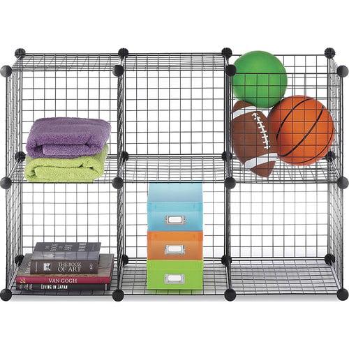 Whitmor Storage Cubes Black Set of 6 - Walmart.com