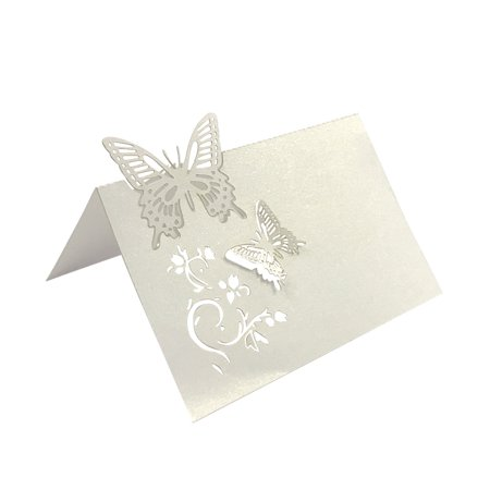 Wrapables® Butterflies Wedding Decor Table Name Place Cards (Set of (Wedding Place Cards Case)
