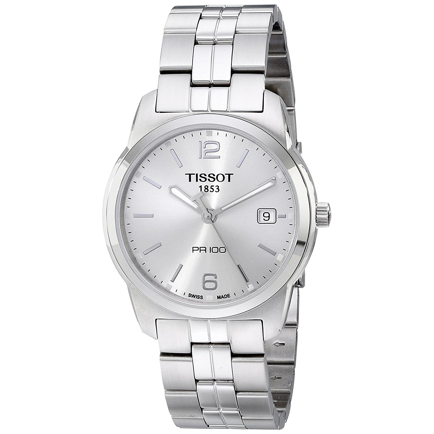 Tissot Men's 39mm Steel Bracelet & Case Swiss Quartz Silv...