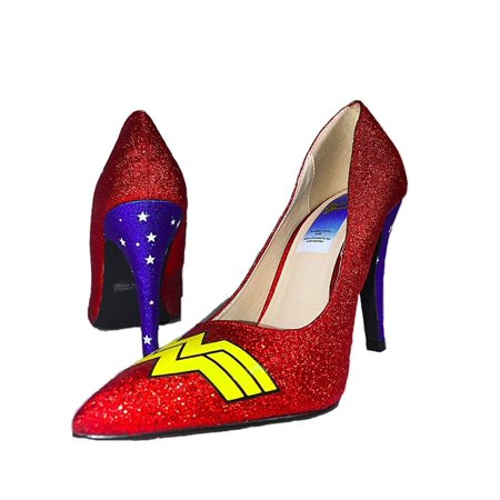 Wonder Woman Logo Adult Costume Heels, Size - Adult Wonder Woman