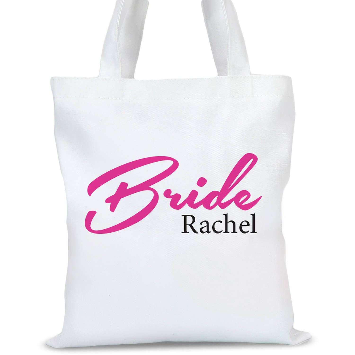 """Personalized Bridal Tote Bag, Sizes 11"""" x 14"""" and 14.5"""" x 18"""""""