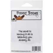 "Riley & Company Funny Bones Cling Stamp, 2"" x 1.5"", The Secret"