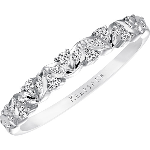 Keepsake Sweet Remembrance 1/10 Carat T.W. Certified Diamond 10kt White Gold Anniversary Band