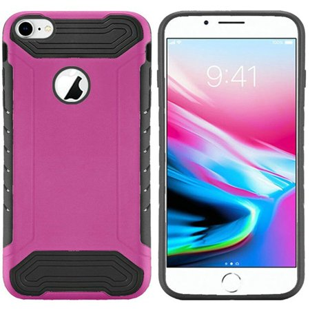 on sale 6bec0 42ab7 Apple iPhone 8 Case, by Insten Slim Armor Dual Layer [Shock Absorbing]  Hybrid Brushed Hard Plastic/Soft TPU Rubber Case Cover For Apple iPhone 8,  Hot ...