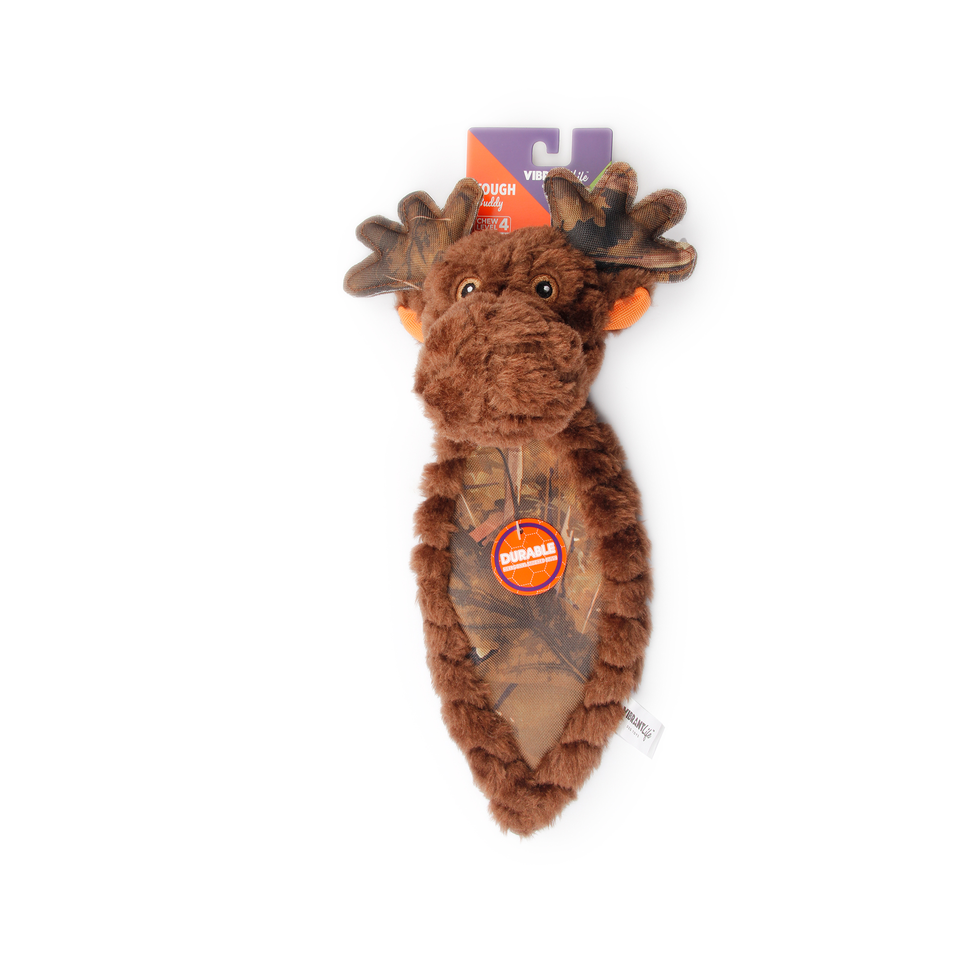 Vibrant Life Tough Buddy Dog Chew Toy, Moose, Assorted