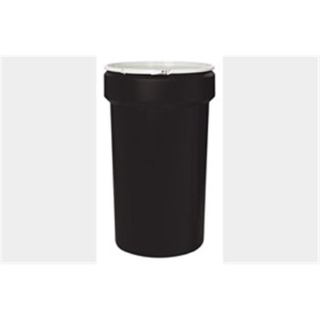 - Eagle Black Plastic Lab Pack Drum 1655BLK with Plastic Lever Lock & Lid - Open Head - 55 Gallon