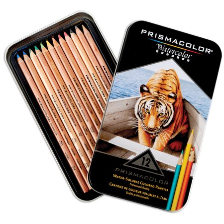 Prismacolor Watercolor Pencils: Assorted Colors, 12 pack (Watercolor And Colored Pencil)