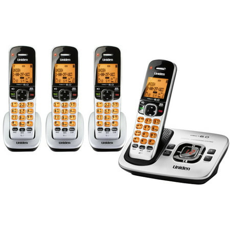 Uniden Digital DECT 6.0 Cordless Phone System with 4 Handsets (Uniden D1680 Cordless Phone)