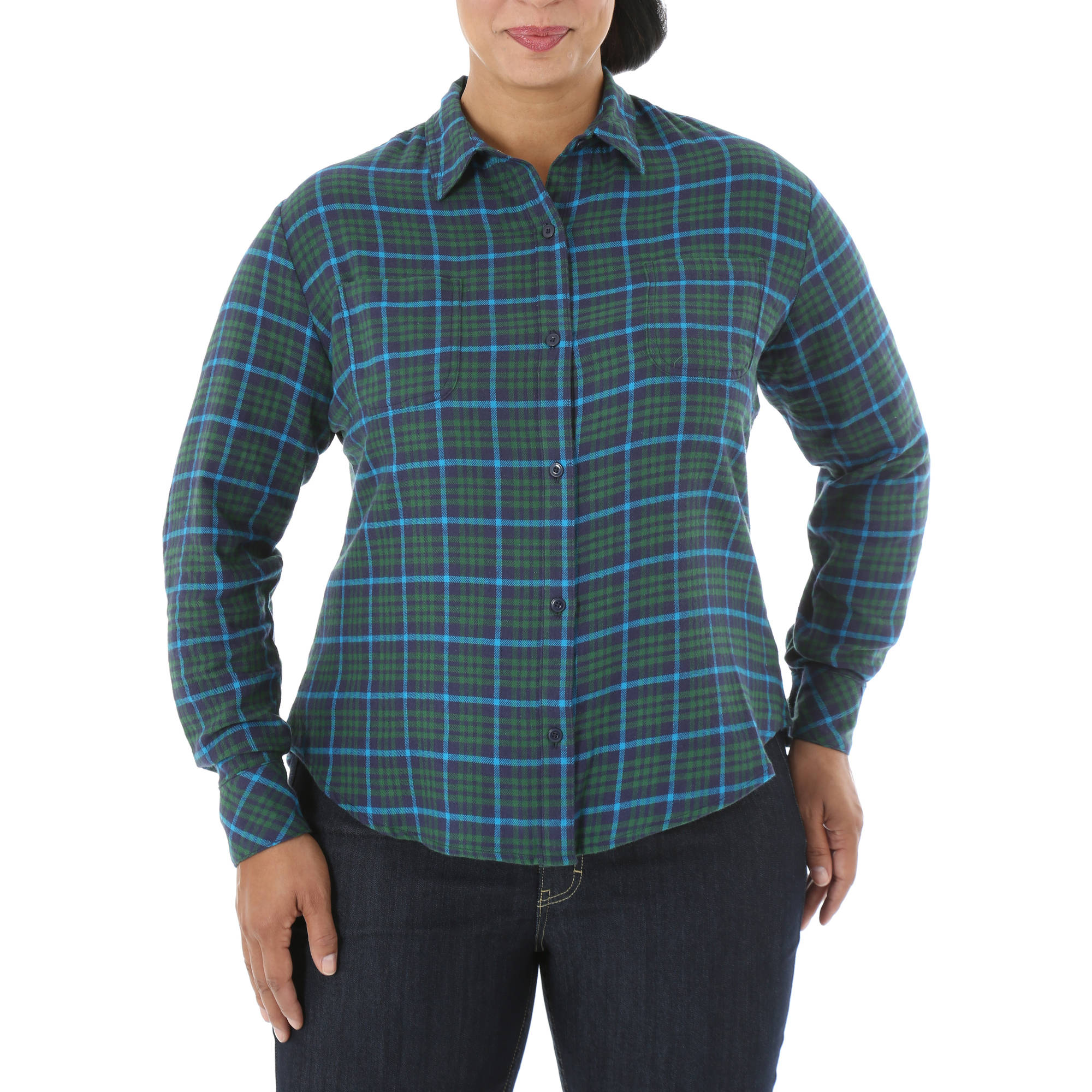 Riders by Lee Women's Plus Long Sleeve Flannel Shirt
