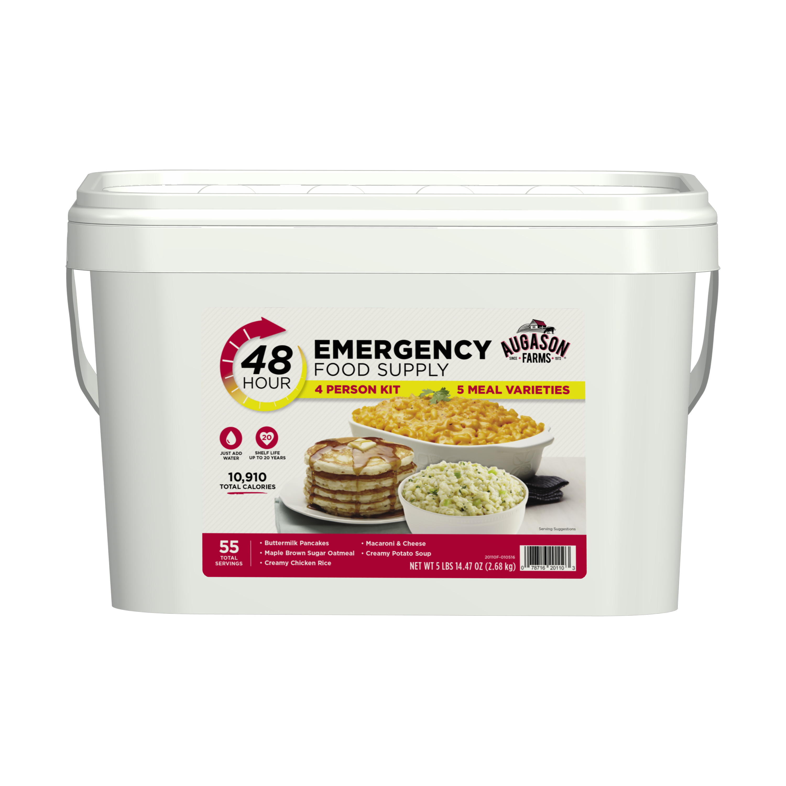 Augason Farms 48-Hour Emergency Food Supply 4 Person Kit, 5 lbs 14.47 oz