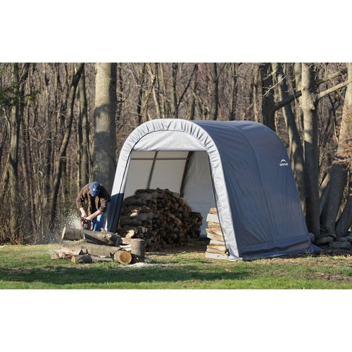 10' x 10' x 8' Round Style Shelter, Gray