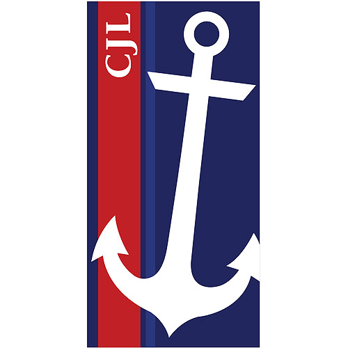 Personalized Summer Anchor Personalized Towel