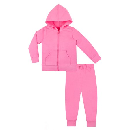 Joker Outfit For Women (Little Star Organic Pure Organic True Brights Hoodie & Jogger Pants, 2pc set (Baby Girls & Toddler)