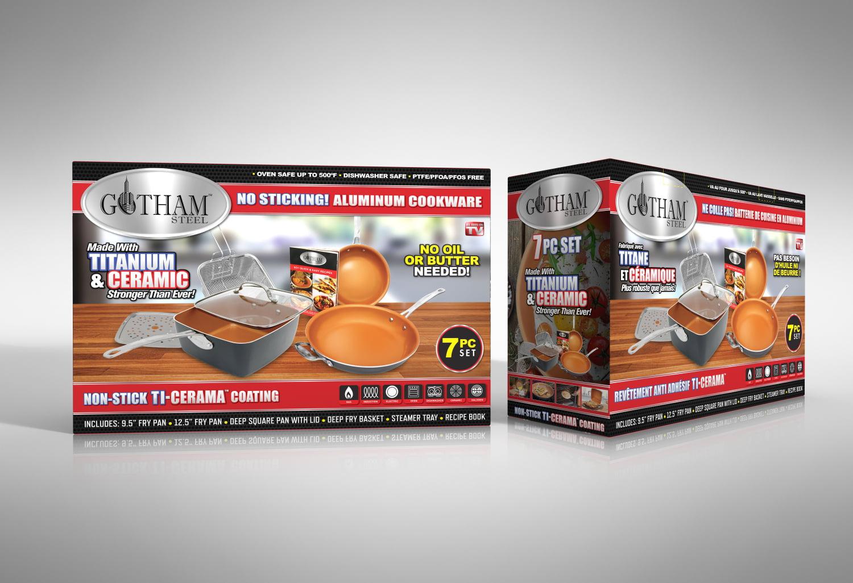 Gotham Steel Pantastic 7 Piece Titanium Ceramic Copper Pan Set