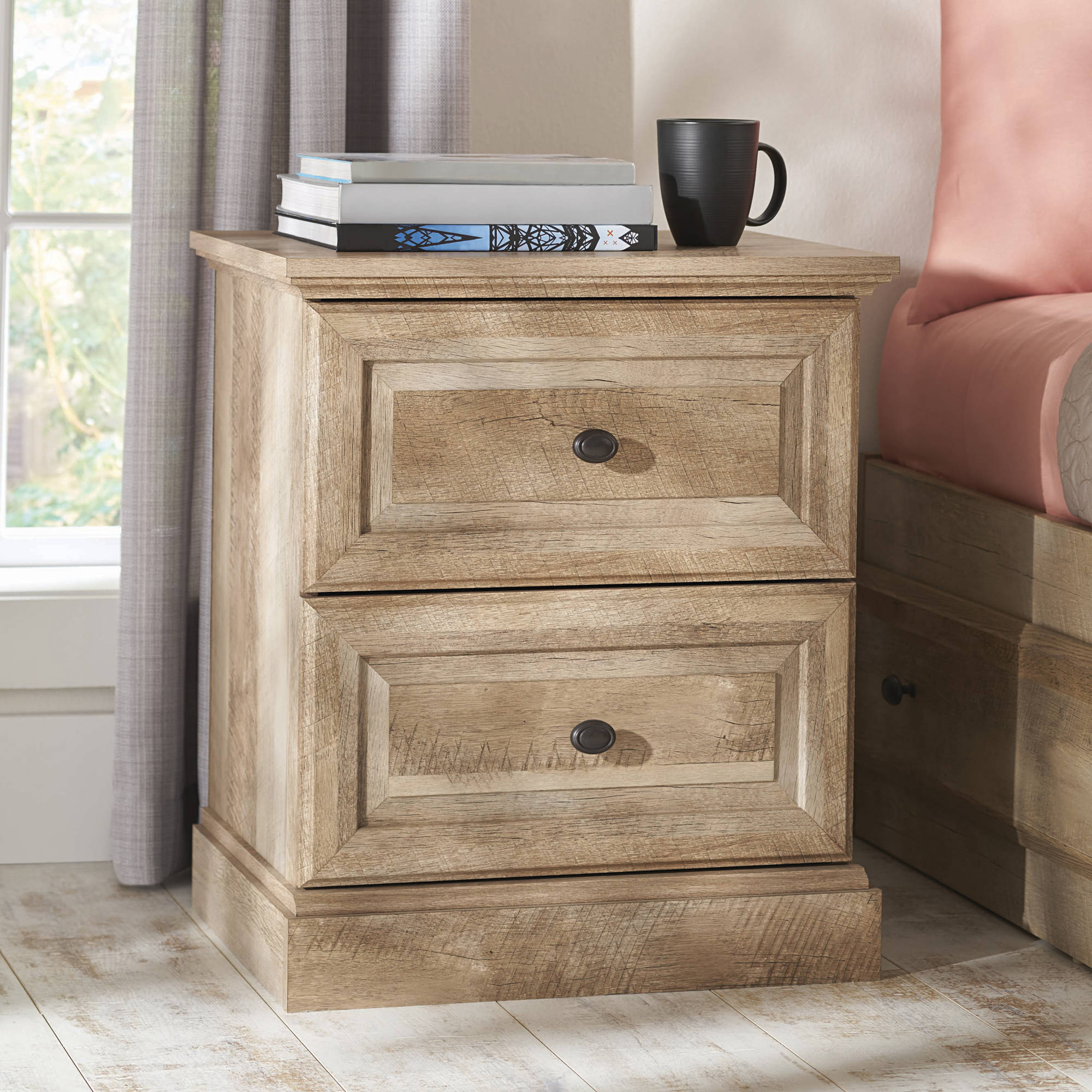 Better Homes and Gardens Crossmill Night Stand, Weathered Finish