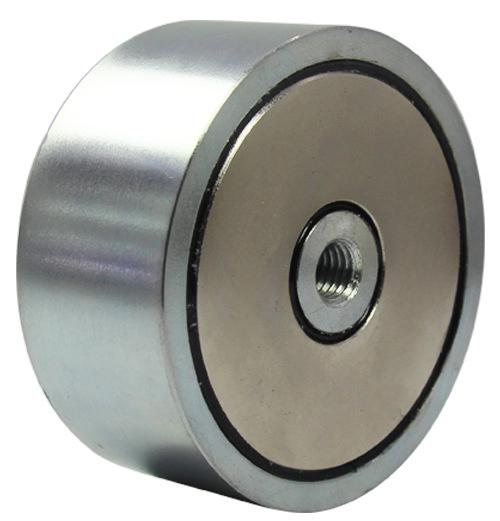 Magnet for River or Lake Fishing Diameter 1.89 x T 0.86 Generation Neodymium Fishing Magnets Combined 308 LBS Pulling Force Round Neodymium Magnet with Eyebolt Double-Sided Magnetic