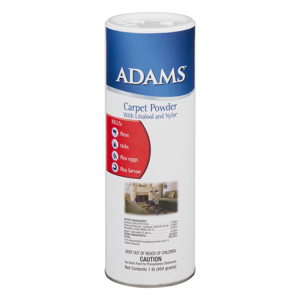 Adams Anti Flea Carpet Powder with Linalool and Nylar, 1 Lb.