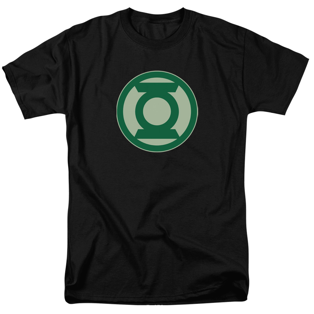 Green Lantern Green Symbol Mens Short Sleeve Shirt (Black, X-Large)