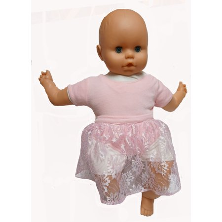 Pink Leotard With Lace Skirt Fits 18-20 Inch Baby Dolls](Toddler Leotard)