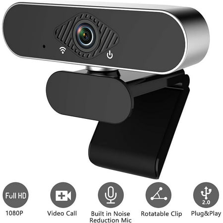 Webcam with Microphone,1080P Full HD Web Cam,USB Web Camera Computer HD Streaming Webcam for PC & Laptop Desktop Video Calling,Recording Conferencing,Gaming Supports Windows/Mac/Android/Linux System Streaming Web Cameras
