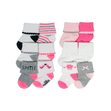 - Scallop Cuff Fashion Sock Gift Set, 12-pack (Newborn Baby Girls)