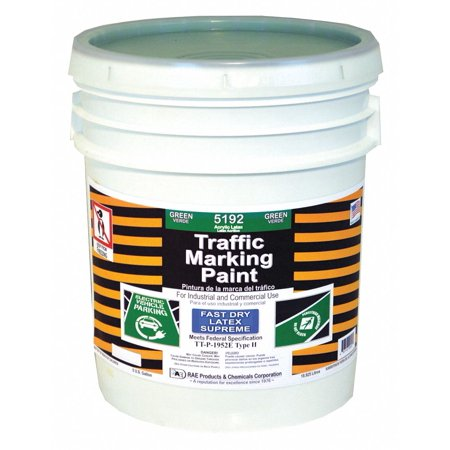 Rae Latex Acrylic-Base Traffic Zone Marking Paint, Green, 18.9L 5 Gal.
