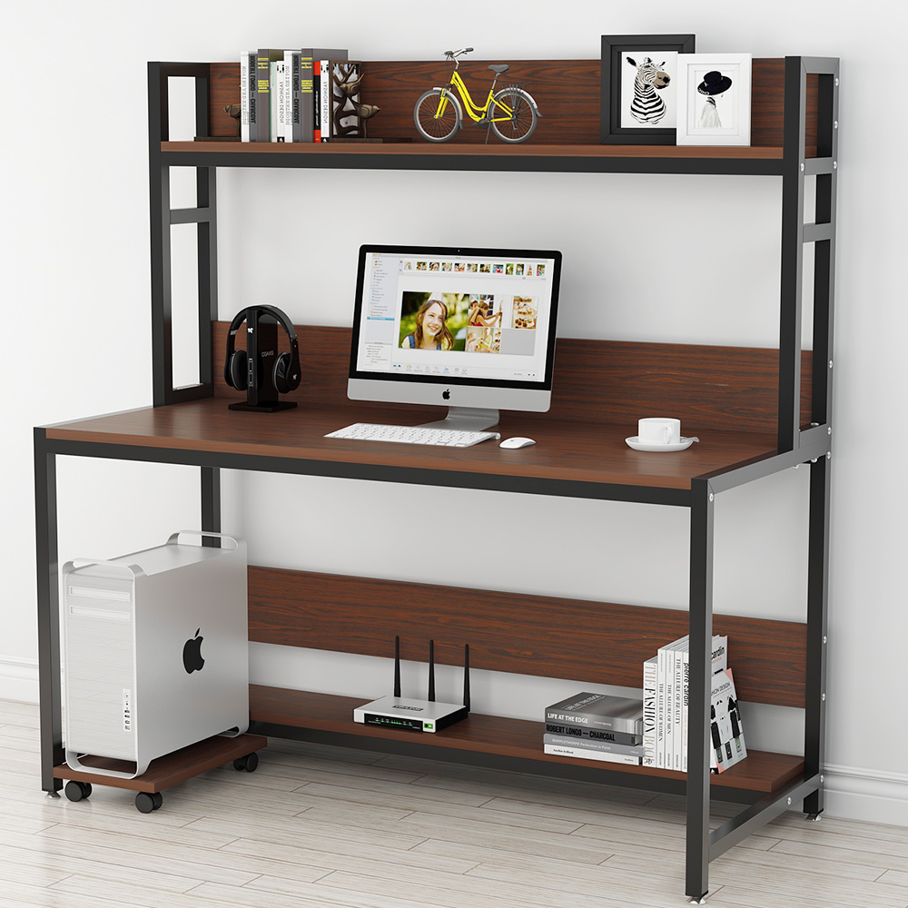 Tribesigns 55 Large Computer Desk With Hutch Modern Writing Desk