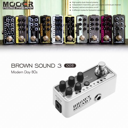 MOOER MICRO PREAMP Series 005 BROWN SOUND 3 Modern Day 80s Digital Preamp Preamplifier Guitar Effect Pedal True Bypass - image 4 de 7