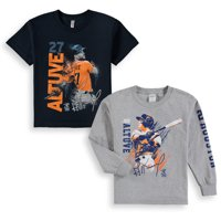 Jose Altuve Houston Astros Youth Splash Player Graphic 2-Pack T-Shirt Set - Navy/Gray