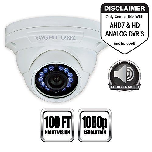 Night Owl Cm-hda10w-dma 2 Megapixel Surveillance Camera - 1 Pack - Color - 100 Ft - 1920 X 10803.60 Mm - Cable - Dome (cam-hda10w-dma)