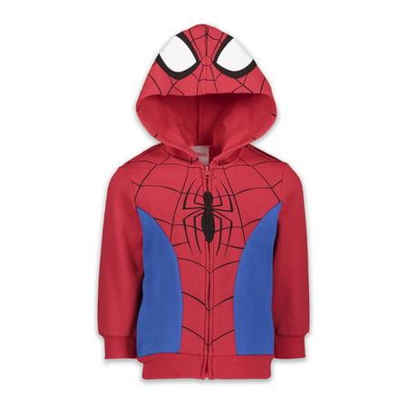 Marvel Spiderman Venom Spiderverse Boys Fleece Zip-up Costume Hoodie