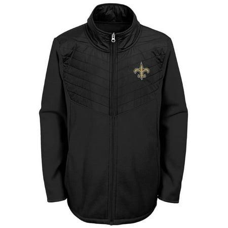 Youth Black New Orleans Saints Polar Full-Zip Jacket - New Orleans Saints Classic Jacket