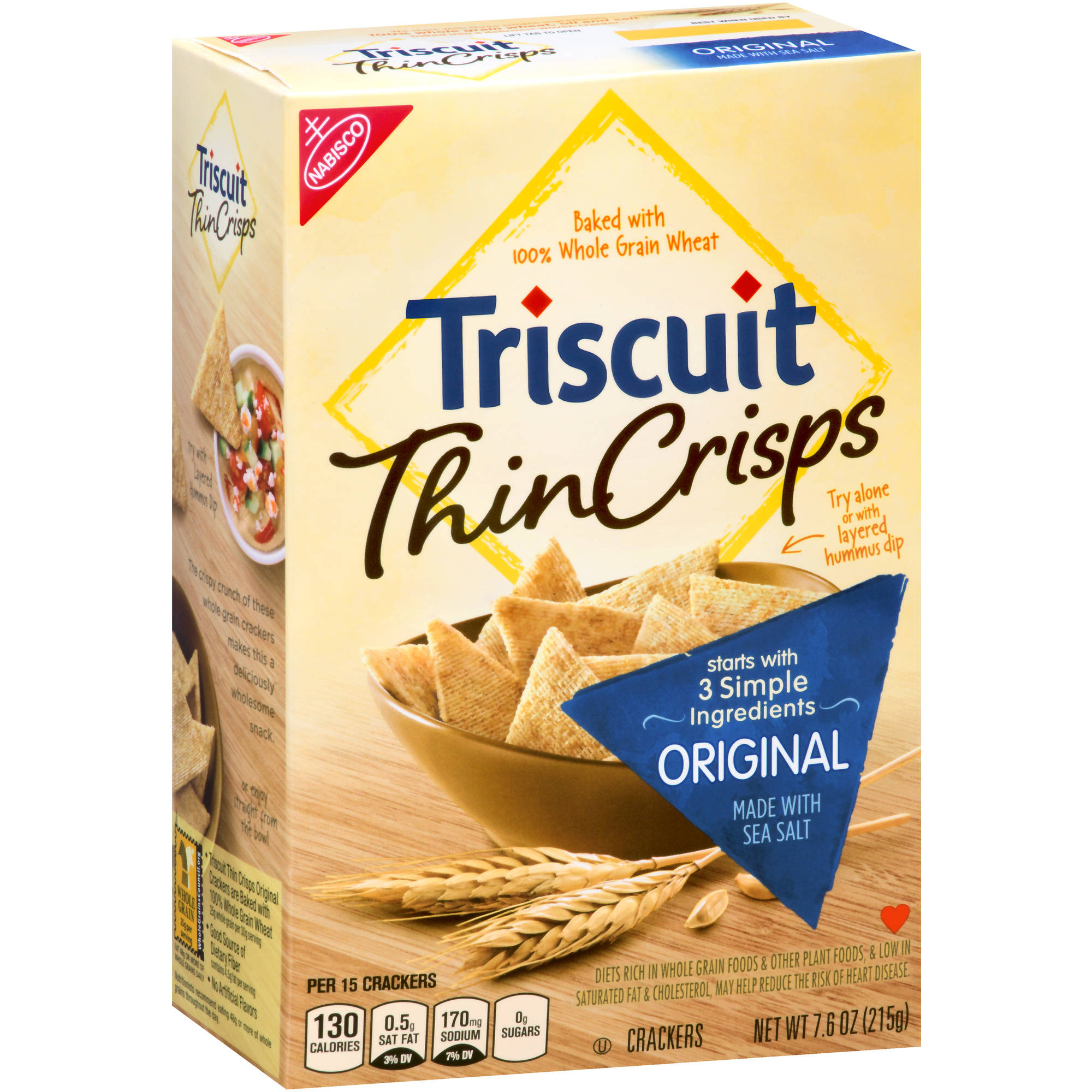 Nabisco Triscuit Thin Crisps Original Crackers, 7.6 oz
