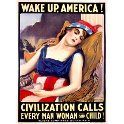 Artehouse Fine Art Print  Wake Up  America  By Artist James Montgomery Flag  Archival Paper  24  X 36