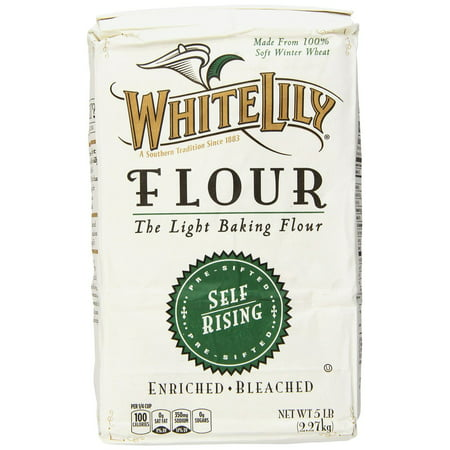 8 PACKS : White Lily Self Rising Flour, 5-lb bag (Easy Pound Cake With Self Rising Flour)