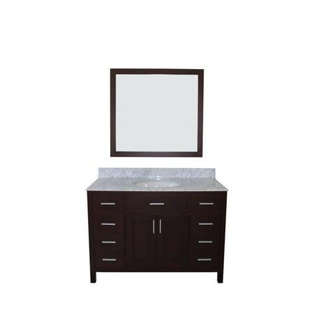 NGY BVS-810048-BK Arezzo Collection Bathroom Vanity Combo, Black - 48 in.
