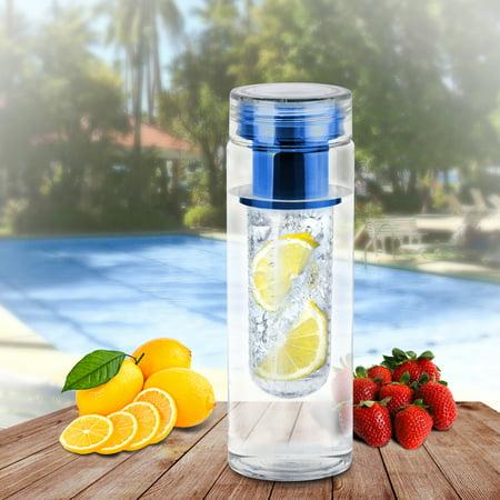 Blue Bpa Free Clear Tea Tumbler Water Bottle fruit Infuser Travel Mug Office
