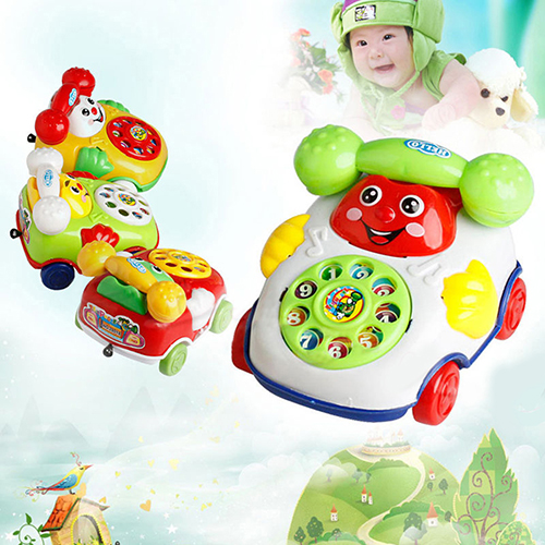 Heepo Baby Kids Cute Educational Developmental Cartoon Smile Face Toy Phone Car