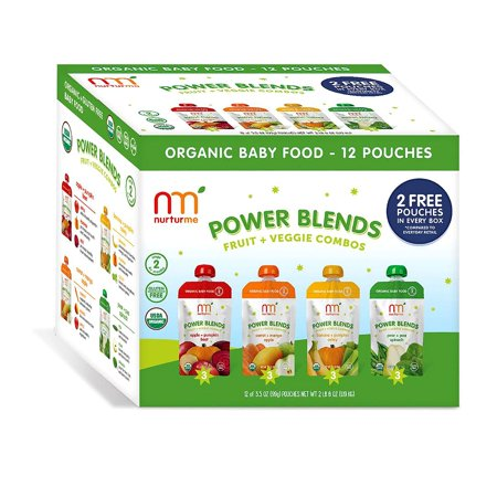 Nurturme Power Blends Fruit & Veggie Combos (3.5 Oz., 12 Ct.) No gluten, dairy, soy, egg, added sugars or artificial flavoring. Made using 100% real organic fruits and veggies.