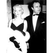 Marlon Brando with Marilyn Monroe Photo Print