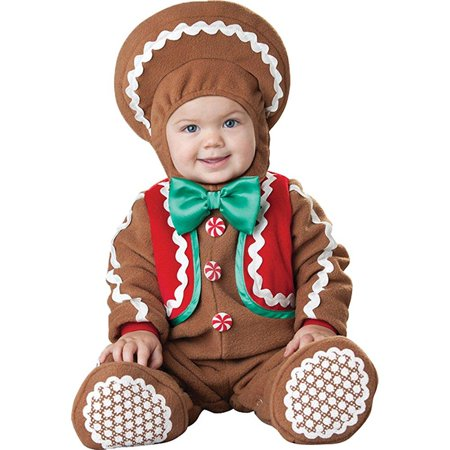 UHC Sweet Gingerbaby Infant Toddler Gingerbread Theme Child Halloween Costume, 12-18M](Ginger Bread Costume)