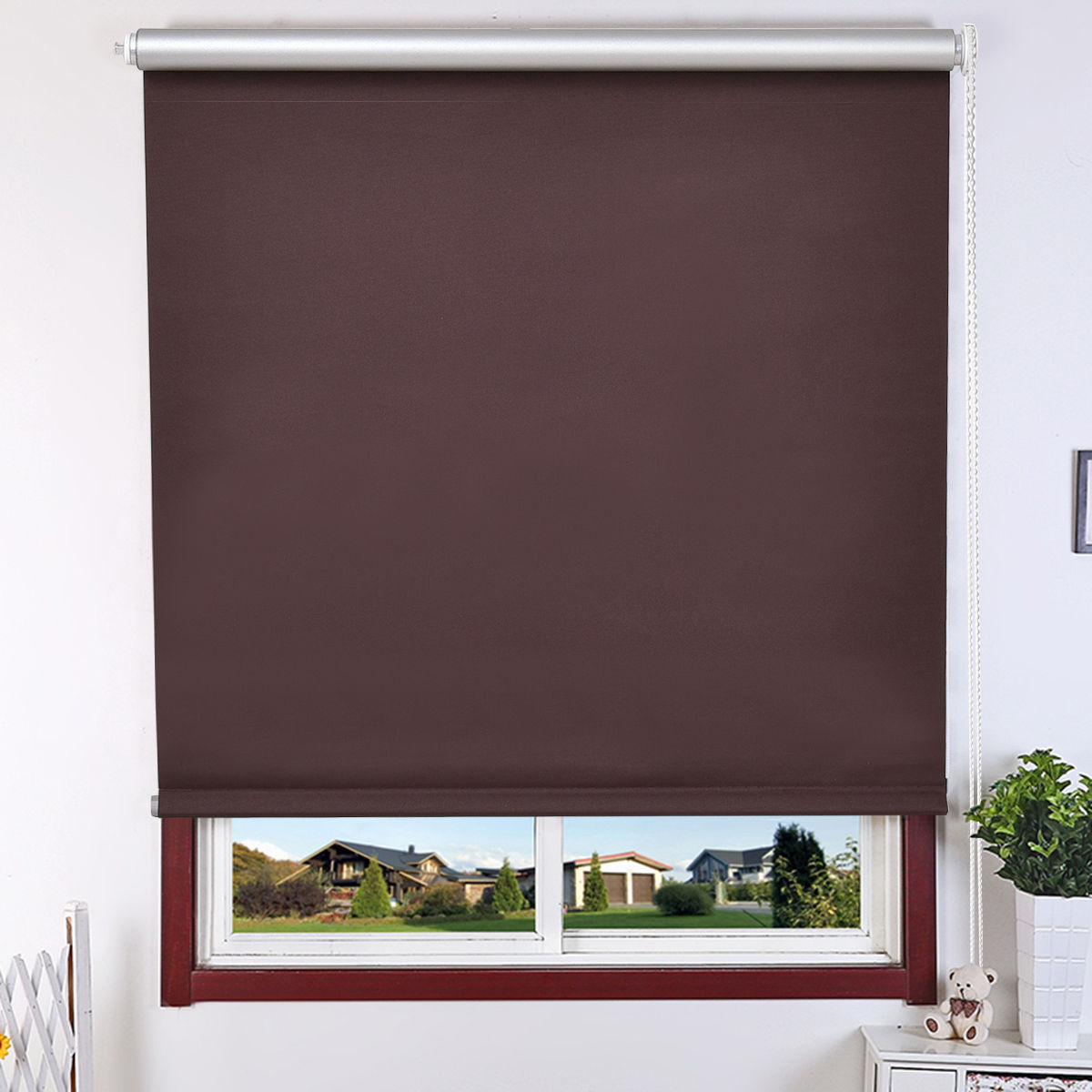 Goplus 22''x60'' Roller Full Blinds Sunscreen Blackout Sun Shade Curtain Window 4 Color