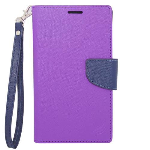 Insten Flip Leather Case For BlackBerry Z10,HTC Desire 520,LG Leon/Tribute 2,Nokia Lumia 1020/630/635/928,Galaxy Avant/Core Prime/J1/S2/S4 Mini/S5 Mini,ZTE Fanfare/Maven/Obsidian/Overture 2 - Purple