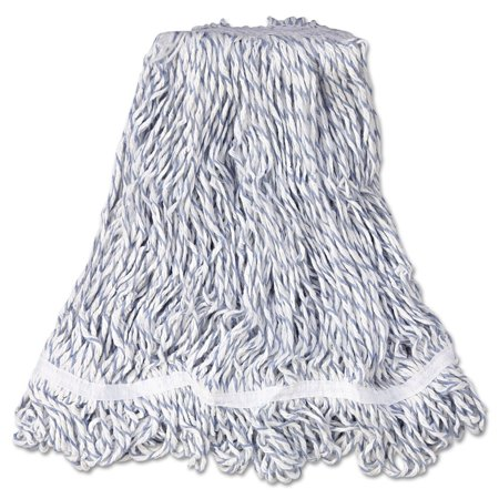 Medium Web Foot Finish Mops in White By Rubbermaid Commercial Products Ship from -
