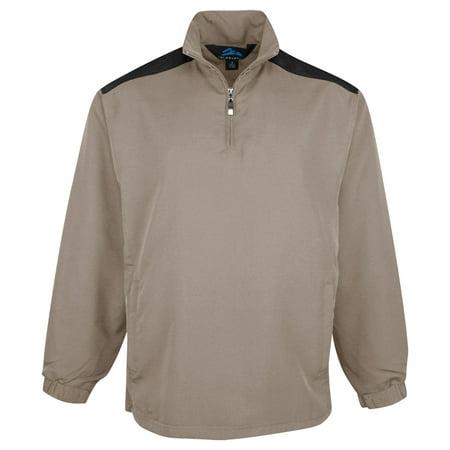 Tri-Mountain Men's 1 4 Zip All Seasons Windshirt (1/4 Zip Windshirt Jacket)