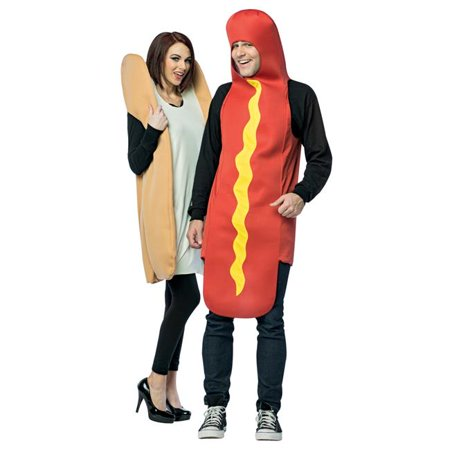 Morris Costumes GC7295 Hot Dog & Bun Couples Adult Costume](Couple Customs)