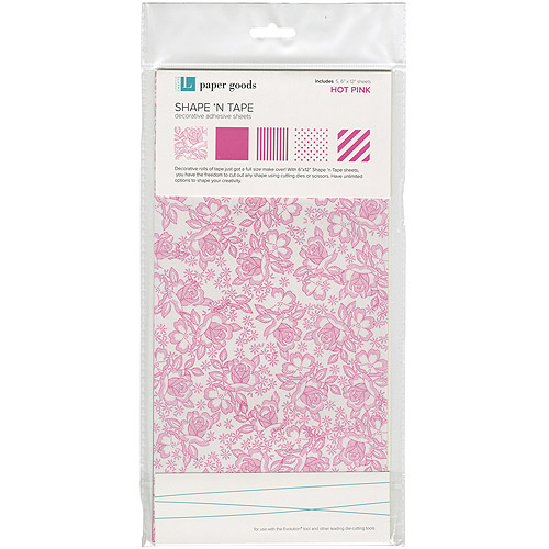 "Shape 'n Tape Washi Sheets, 6"" x 12"", 5/Pkg"