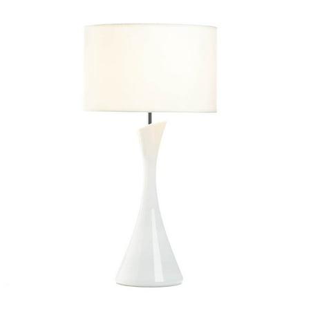 Desk Lamp White, Contemporary Table Lamp Living Room Chic - Ceramic