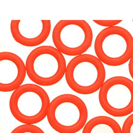 25pcs Orange-Red O-Ring For Flat Licorice Leather 8x2mm