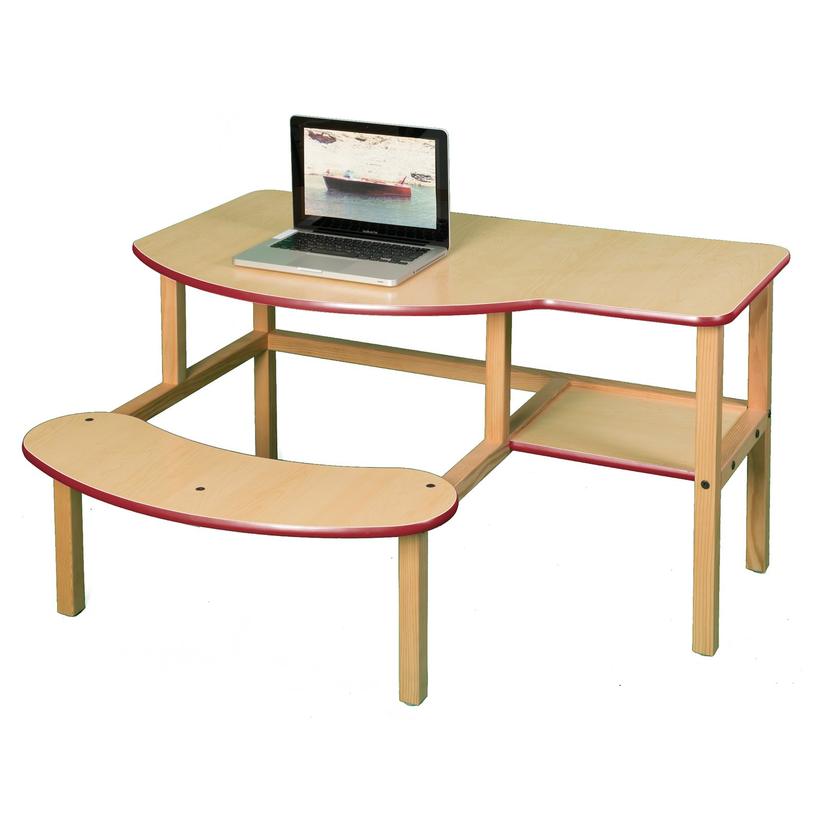 Wild Zoo Grade School Buddy Computer Desk - White